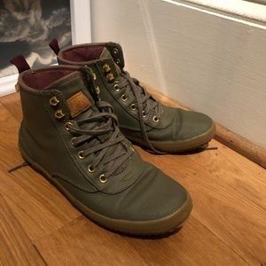 Keds Scout Boot Rain Shoes 8.5 Olive Lace Up